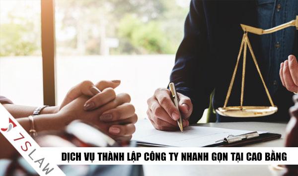 Dịch vụ thành lập doanh nghiệp,công ty tại Cao Bằng