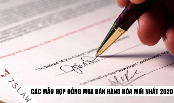 Cập nhật các mẫu hợp đồng mua bán mới nhất tại Việt Nam