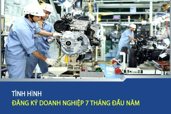 Tinh hinh dang ky doanh nghiep 7 thang dau nam